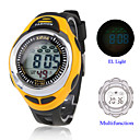 Hombre Reloj Digital Reloj Deportivo LCD / Calendario / Cronógrafo / Resistente al Agua / alarma Silicona Banda