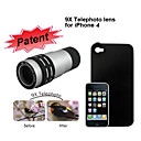 9x Telephoto Lens with Protective Back Case for iPhone 4