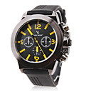 Buy V6® Men's Racing Style Black Dial Silicone Band Quartz Wrist Watch Cool Unique