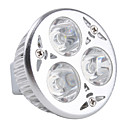 MR16 3x1W 3-LED 270Lm White Light Bulb 12V