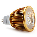 Focos MR16 GU5.3 W 3 LED de Alta Potencia 450 LM Blanco Natural DC 12 V