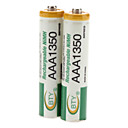 BTY AAA 1350mAh Genopladelige Ni-MH batterier (1,2 V, 2-Pack)