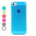 Genomskinlig TPU soft case för iphone 5/5s (blandade färger)