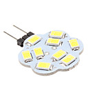 G4 4 W 9 SMD 5630 430 LM Natural White Bi-pin Lights DC 12 V