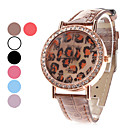 Women's Leopard Print Dial PU Band Quartz Analog Wrist Watch (Assorted Colors)