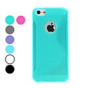 S-Shape Soft TPU Case for iPhone 5/5S (Assorted Colors)