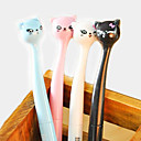 Japanese Style Cartoon Cat Head Gel Pen(Random Color)