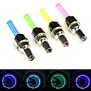 Cycling Led Light Gas Nozzle Wheel Light Valve Cap Flashing Lights Assorted Colors