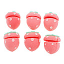 Strawberry Shaped Spons Curly Hair Shaper Ball (6-Pack)