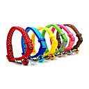 Plastic Buckle Circle Dot Pattern Small Collar with Little Bell for Dogs
