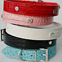 Crocodile Skin Stylish DIY Decoration Collar for Dogs (Assorted Color,XS-L)