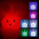 Crystal Rabbit muotoinen värinvaihto LED Night Light (USB)