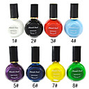 1pcs multicolor Top Coat Esmalte para Estampación (10 ml, colores surtidos)