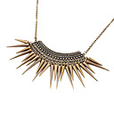 Gothic Punk Vintage Style Bronze Spike Tassel Choker Necklace