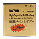 Cell Phone Battery for Sony Ericsson BA700 (3.7V, 2680 mAh)