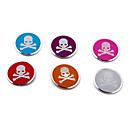 Decorated Aluminum Skull Pattern Button Home Button Accessory(6PCS)