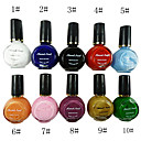 10 farver rene farver UV Builder Gel Nail Art 10ml