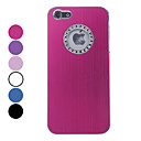 Solid Color Brushed Aluminum Hard Case with Diamond Frame Hole for iPhone 5 (Assorted Colors)