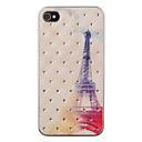 Der Eiffelturm in der Abenddämmerung Muster Zirkon zurück Fall für iPhone 4/4S