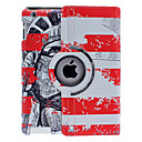 Chinese Soldier Pattern 360 graders roterbar Full Body Case med Stand til iPad 2/3/4
