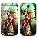 Woman Warrior Pattern Front and Back Protector Stickers for Samsung Galaxy S4 I9500