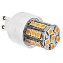 G9 27x5050 SMD 3.5W 300LM 2800-3200K Lämmin valkoinen LED lamppu (230V)