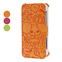 Puzzled Bear Embossed Clamshell Design PU Full Body Case for iPhone 5/5S (Assorted Colors)