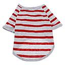 Dog Shirt / T-Shirt / Clothes/Clothing Blue / Gray Summer Stripe