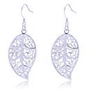 Buy Earring Leaf Drop Earrings Jewelry Women Party / Daily Alloy Silver