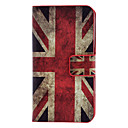 The Union Jack Pattern Full Body Case med kort slot og indbygget Matte PC Back Cover til iPhone 4/4S