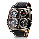 Men's Watch Military Dual Time Zones Themometer and Compass