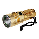 UniqueFire UF-V27 Rechargeable 3-Mode Cree XML-T6 LED Flashlight(1000LM, 3xAA, Gold)