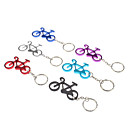 Aluminum Alloy Bicycle Model Keychain with Carabiner Hook (Random Color)