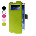 Solid Color PU Leather Case with Viewing Screen for Samsung Galaxy S4 I9500 (Assorted Color)