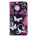 Butterflies and Chrysanthemum Pattern Full Body Case with Card Slot and Built-in Matte PC Back Cover for iPhone 4/4S