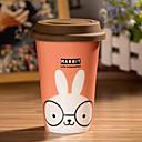taza de conejo de dibujos animados con cola flexible taza de la cubierta