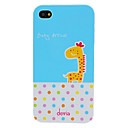 Afvigelser Yndig Cartoon Giraffe og Round Dots mønster PC Hard Case for iPhone 4/4S