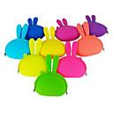 Del color del caramelo del estilo del conejo monederos de silicona (varios colores)