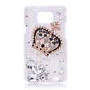 Heteromorphism Diamond Pearl Crown Back Case for Samsung Galaxy S2 I9100