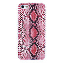 Red Snake Skin Textured Flip Case with Interior Flocking Protection for iPhone 5/5S