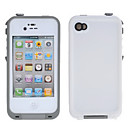 White Solid Color PC Hard Case for iPhone 4/4S