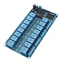 16-Channel 5V Relay Module Board W / puissance LM2576 / Optocoupleur Protection - Bleu