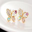 z&X® naisten helmi perhonen kovertaa timantti korvakoruja