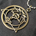Buy Jewelry Inspired Fullmetal Alchemist Edward Elric Anime Cosplay Accessories Necklace Golden Stainless Steel Male