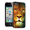 Lion Pattern 3D Effect Case for iPhone4/4S