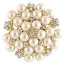 Z&X®  High Quality Copper Alloy Pearl Decorated Plated Brooch