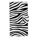 Zebra Stripe Pattern Full Body Case med kortplats för Sony L36h (Xperia Z)