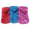 Симпатичные английского алфавита Pattern теплое пальто с капюшоном Собаки Животные (разные цвета, размеры)