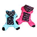 애완 동물 개를위한 큰 포켓 별 패턴 솜 패딩 네 다리 바지 (다양한 크기)