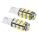 2 Pcs T10 2W 25x3020SMD 100-120LM 6000K Cool White Light LED Bulb (12V)